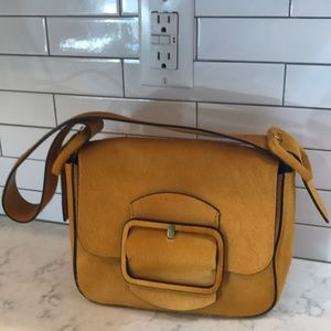 Tory Burch Sawyer Bag, Mustard Color Calf Hair